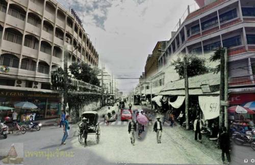ไทยในอดีต_ถนนจักรเพชร ย่านวังบูรพา