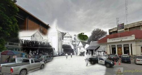 ไทยในอดีต_อดีตป้อมมหาฤกษ์ กำแพงและประตูเมือง แถวโรงเรียนราชินี