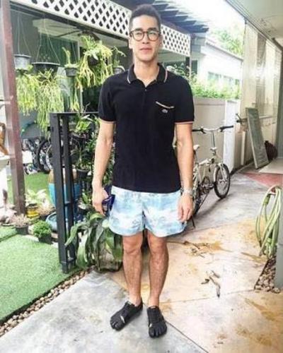 เสื้อผ้า ชุด แฟชั่น ณเดชน์_3-ณเดชน์-ลุคกางเกงขาสั้นชิลๆ
